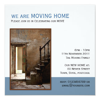 Abandoned Moving Home Card