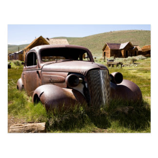 Abandoned Old Chevy Postcard