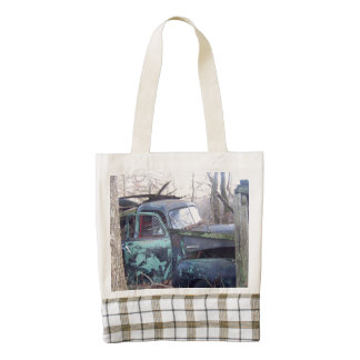 Abandoned Old Retro Truck Zazzle HEART Tote Bag