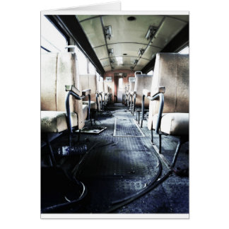 Abandoned Old Train Card