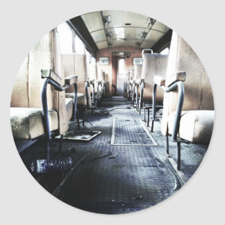 Abandoned Old Train Classic Round Sticker