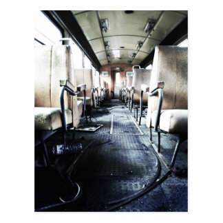 Abandoned Old Train Postcard