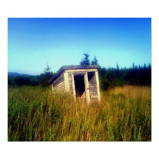 Abandoned Outhouse Canvas Poster