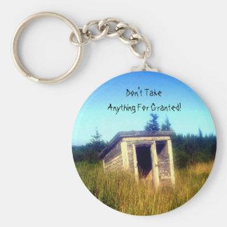 Abandoned Outhouse Key Chain