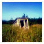Abandoned Outhouse Poster