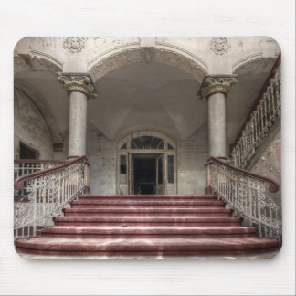 Abandoned Places draws to Place mouse PAD stairs