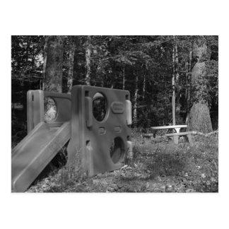 Abandoned Playground Postcard