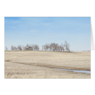 Abandoned Prairie Homestead In North Dakota #1 Card