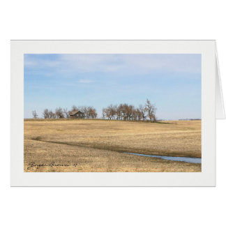 Abandoned Prairie Homestead In North Dakota #2B Card