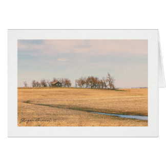 Abandoned Prairie Homestead In North Dakota #3B Card