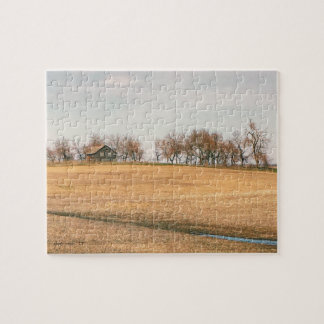 Abandoned Prairie Homestead In North Dakota #3B Jigsaw Puzzle