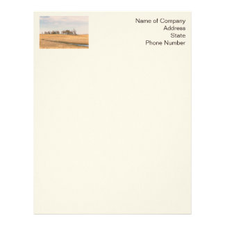 Abandoned Prairie Homestead In North Dakota #3B Letterhead