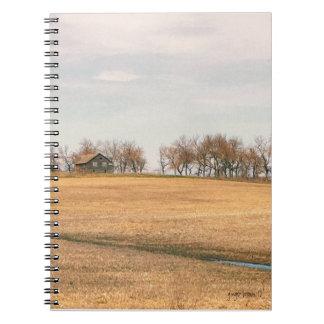 Abandoned Prairie Homestead In North Dakota #3B Notebook