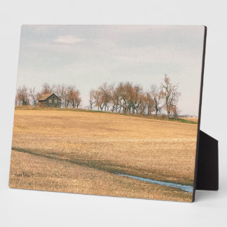 Abandoned Prairie Homestead In North Dakota #3B Plaque