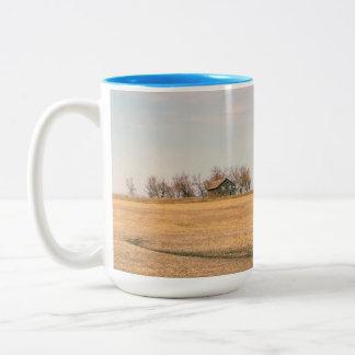 Abandoned Prairie Homestead In North Dakota #3B Two-Tone Coffee Mug