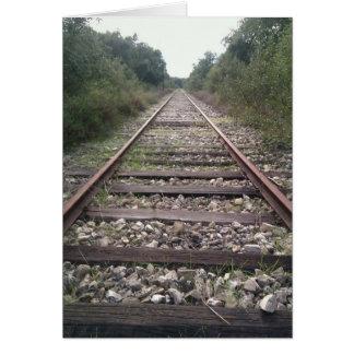 Abandoned railway near Evoramonte, Portugal Greeting Card