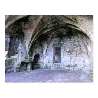 Abandoned Room in the Ruins of Culross Abbey Postcard