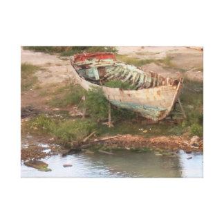 Abandoned Row Boat Canvas Print