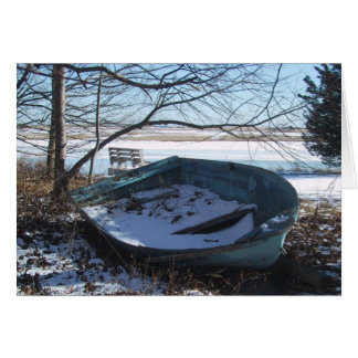 Abandoned Rowboat on Cape Cod Stationery Note Card
