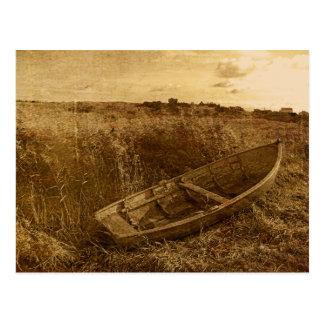 Abandoned Rowboat Postcard