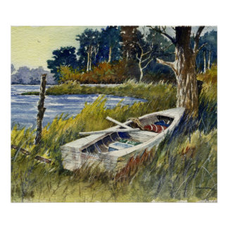Abandoned Rowboat- poster
