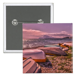 Abandoned Rowing Boats | L'Olla Beach, Altea Pinback Button