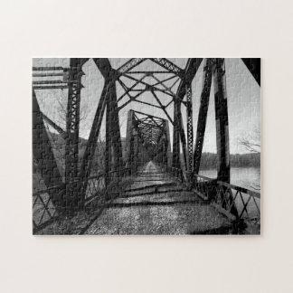 Abandoned RR Bridge b/w Puzzle