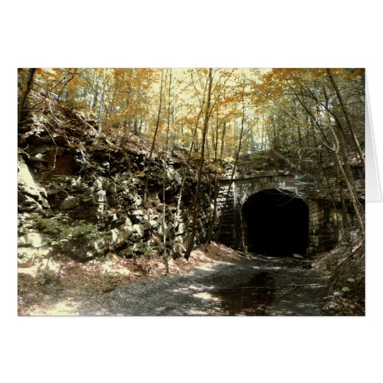 Abandoned RR Tunnel #1 Greeting Card