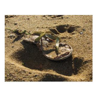 Abandoned sandal at Sandy Point Postcard