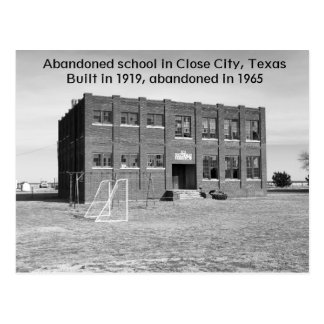 Abandoned School in Texas Photo Postcard