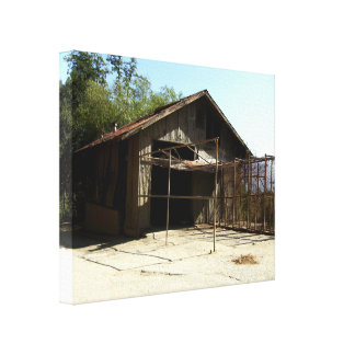 Abandoned Shed At The Old LA Zoo Gallery Wrapped Canvas