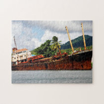 Abandoned Ship in Dominica Jigsaw Puzzle