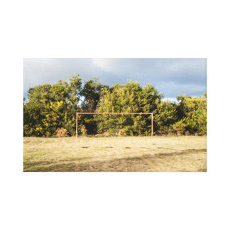 Abandoned Soccer Field Canvas Print