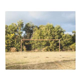 Abandoned Soccer Field Metal Print
