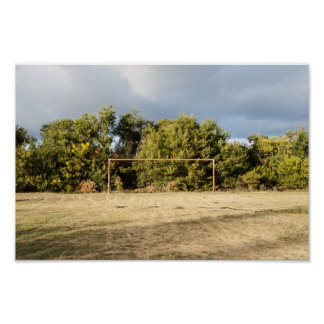 Abandoned Soccer Field Poster