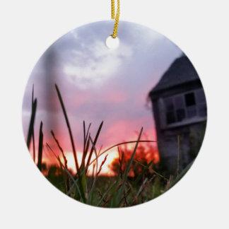 Abandoned Sunrise / Original Photography Ceramic Ornament