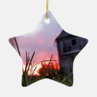 Abandoned Sunset - Original Photography Ceramic Ornament