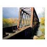 Abandoned Train Bridge Post Card