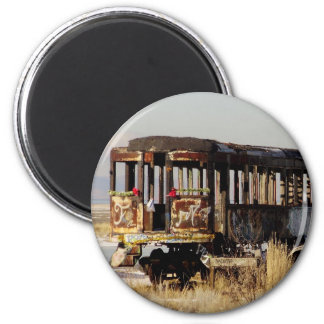 Abandoned train 2 inch round magnet