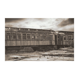 Abandoned Train Stretched Canvas Canvas Print