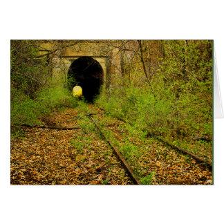 Abandoned train tunnel card