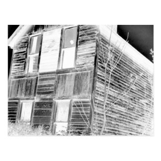 Abandoned Two Story House - negative Postcard