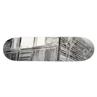 Abandoned Two Story House - negative Custom Skateboard