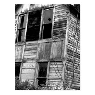 Abandoned Two Story House Postcard