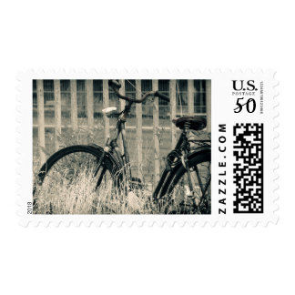 Abandoned vintage bicycle postage