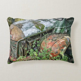 Abandoned Vintage Truck Accent Pillow