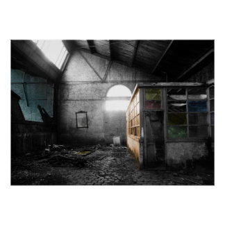Abandoned Warehouse Poster