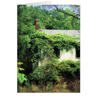 Abandoned White House in the Woods Card