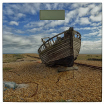 Abandoned Wooden Fishing Boat | Dungeness Bathroom Scale