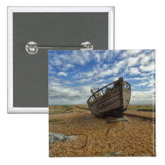 Abandoned Wooden Fishing Boat | Dungeness Pinback Button